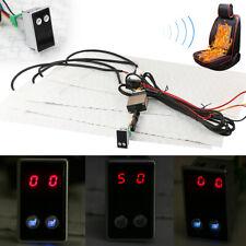 Carbon Fiber Universal Heated Seat Heater Digital 5-Gear Switch Kit For 2 Seats
