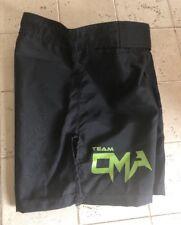 Mens Premier Athletic Muay Thai Kickboxing Mma Bjj Shorts; Size 28, Black Green
