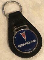 New Old Stock Pontiac Grand Am Leather Keychain Fob