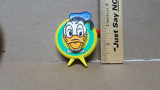 Rare Disney Plastic Donald Duck Pin / Mechanical / Toybox Made In Japan - Cool!