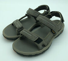 Men's Teva Hudson #1002433 Gray Suede Sport River Hook Loop Sandals Size 9 Cord