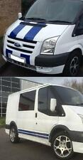 ANY COLOUR FORD TRANSIT SPORT BONNET & SIDE STRIPE KIT DECALS STICKERS GRAPHICS