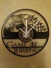 The Game Of Thrones Lasermade vinyl record laser cut modern wall clock fun gift.
