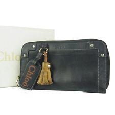 Auth Chloe Eden Tassel Leather Zip Around Long Wallet Purse F/S 528i