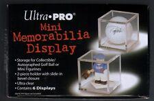 (6) Ultra Pro Acrylic Golf Ball or Mini Memorabilia Display Case Holders Storage