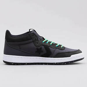 Converse Fastbreak Mountaineer Leather Mid Black Lace Up Trainers Mens