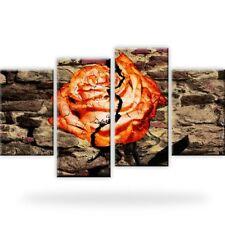 Rose Abstrakt Mauer Wandbilder auf Leinwand Digitalart Vierteilig