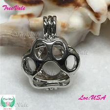 Bear Paw - Pearl Cage Pendant - Fun Gift!!