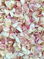 50 Guests Biodegradable Wedding Confetti Rose Gold Ivory Mix Petals Dried Pink
