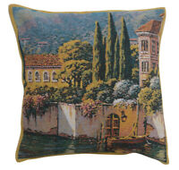 Varenna Reflections Village Right Belgian Tapestry Pillow Cover Accent Cushion