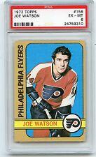 1972-73 TOPPS HOCKEY #156 JOE WATSON, PHILADELPHIA FLYERS - PSA 6 EX-MT (58310)