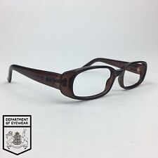 GUCCI eyeglass BROWN /METAL BRANDING RECTANGLE frame Authentic. MOD: GG 2452/s