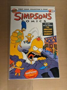 Simpsons Comics 1 w/pull-out poster intact 1993. VF+/NM- (more for-sale)