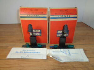 LIONEL O GAUGE TWO # 410 BILLBOARD BLINKER UNITS BOXED WITH INSTRUCTIONS & WIRE