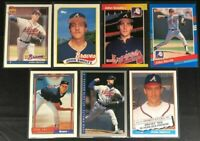 John Smoltz -7 Cards- 2 Rookies, 1989 Topps,'89 Donruss - Topps 40 Years, Fleer