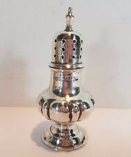 ANTIQUE HM SILVER BALUSTER PEPPER SHAKER POT Oldfields Ltd 1908