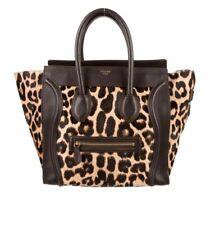 Gorgeous Celine Leopard Ponyhair Mini Luggage Tote