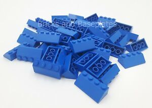 LEGO 100 x BLUE Roof Tiles 2 x 4 Pin Slope 45° Item Number 3037# Brand New