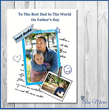 PERSONALISED PHOTO FATHERS DAY CARD DAD DADDY FATHER GRANDAD POP STEPDAD