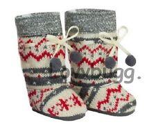 "Gray Fair Isle Alpine Knit Pom Pom Boots for 18"" American Girl Doll Clothes FUNN"