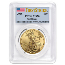 Daily Deal - 2018 $50 American Gold Eagle 1 oz. PCGS MS70 First Strike Label