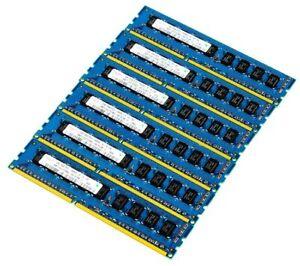 Lot of 6 Hynix HMT112U7TFR8C-H9 1GB 1Rx8 PC3-10600E-9-10-D0 RAM Memory Module