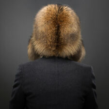Male Full Cover Real Fox Fur Hat Russian Warmer Ushanka Cossack Ski Earflap Cap