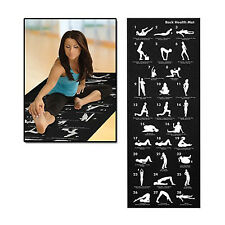NOIR EXERCICE YOGA GYM FITNESS pro-workout 6mm TAPIS ANTIDÉRAPANT