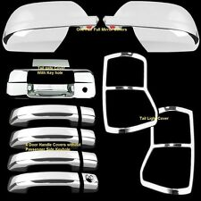 For  07-09 Toyota Tundra Crew Max Chrome Mirror Doors Tailgate Taillights Covers