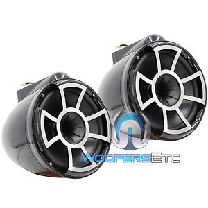 "WET SOUNDS REV8-B-X 8"" BLACK MARINE BOAT EFG 4-OHM MID BASS TOWER SPEAKERS NEW"