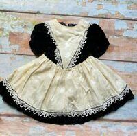 Vintage VTG Jessica Mcclintock toddler dress size 2T black & white made in USA