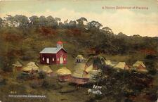 A NATIVE SETTLEMENT OF PANAMA LANCASTER SOUTH CAROLINA POSTCARD 1914