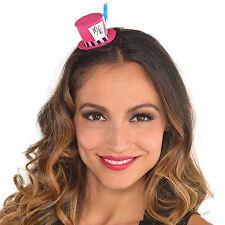 MAD Hatter Rosa Mini Cappello Fermacapelli Tea Party Paese Delle Meraviglie Costume Alice Nuovo
