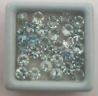 Natural Untreated Aquamarine Round Cut Loose Gemstone Lot 149 Pcs 4 MM 35 CT
