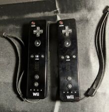 Lot of 2 Nintendo Wii Remote Black Controllers Official Tested Working
