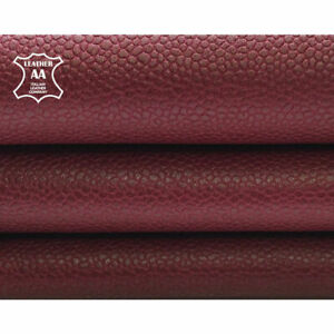 Burgundy Leather Hides    Genuine Lambskin Pieces    Dark Red Leather Material  