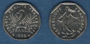 2 Francs Semeuse 1989 SPL de rouleau 83011 Exemplaires