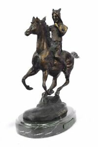 Handcrafted bronze sculpture SALE On Chief Warrior Indian Home Decoration Figure