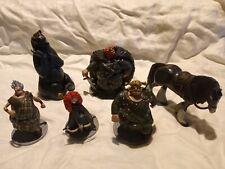 6 Rare Disney Pixar Brave Deluxe Figurine Lot King Angus, Lords, etc PVC Figure