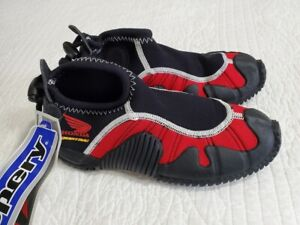 NEW Honda Aquatrax Slippery Formula Watercraft Jetski Water Shoes Black/Red