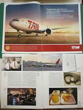 9/2012 PUB TAM LINHAS AEREAS BRASILEIRAS AIRLINE / DELTA AIRLINE PORTUGUESE AD