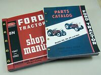 LOT FORD 8N TRACTOR SHOP MANUAL PARTS CATALOG SERVICE REPAIR TECHNICAL NEW PRINT