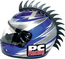 PC RACING HELMET MOHAWK SAW BLADE STICK ON MOTORCYCLE DIRT BIKE OFF ROAD