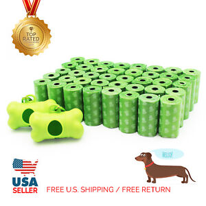 EcoJeannie 800-Count (40 Rolls) Dog Poop Bags With Two Dispensers Free Shipping