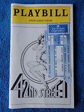 42nd Street - Majestic Theatre Playbill w/Ticket - December 6th, 1980 - Grimes