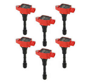 827916 MSD Ignition Coils Blaster Series, 2007-2020 Nissan/Infiniti 3.5L, Red,