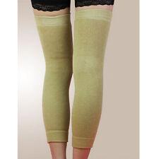 Popular Wool Thermal Knee Leg Warmer Long Socks Elasticated Kneepad Legging YJ Black