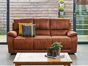 Harveys brown suede sofa recliner