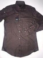 NWT $118 BOSS Hugo Boss Men/'s Magneton Open Blue Slim Fit Dress Shirt Size XL