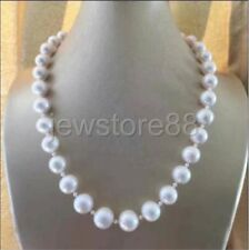 11-12mm natural South sea white pearl necklace 20 inch